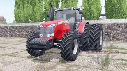 Massey Ferguson 8690 dual rear wheels für Farming Simulator 2017