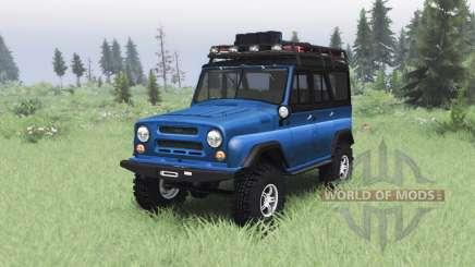 UAZ 469 blue v1.2 für Spin Tires