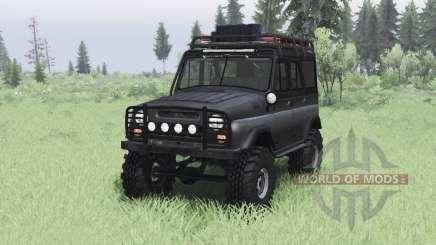 UAZ 469 black v1.2 für Spin Tires