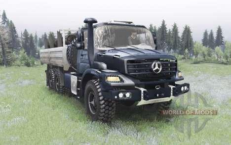 Mercedes-Benz Zetros 2733 A gunmetal pour Spin Tires