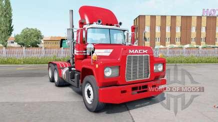 Mack R600 Day Cab 6x4 red salsa für Euro Truck Simulator 2
