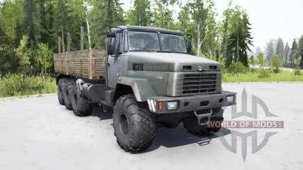 KrAZ 7140Н6 gris foncé-couleur verte pour MudRunner