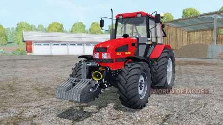 La biélorussie 1221.4 de couleur rouge vif pour Farming Simulator 2015