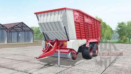 Lely Tigo XR 75 D deep carmine pink pour Farming Simulator 2017