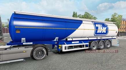 Die Auflieger-tank für Euro Truck Simulator 2