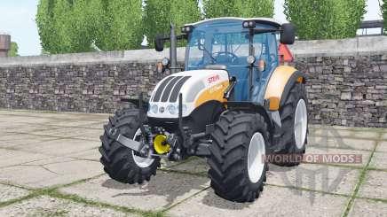 Steyr 4115 Multi 2013 soft orange für Farming Simulator 2017