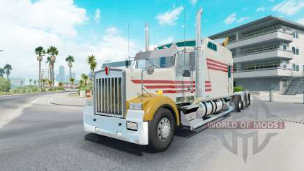 Kenworth W900B long grayish yellow pour American Truck Simulator