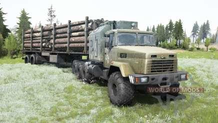 KrAZ-7140Н6 vieilli cabine pour MudRunner