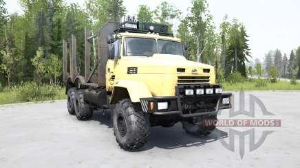 KrAZ 6322 souple de couleur jaune pour MudRunner