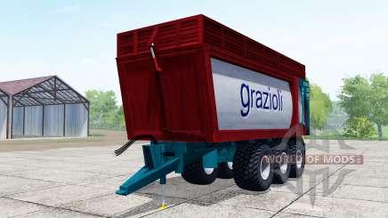 Grazioli Domex 200-6 dark red für Farming Simulator 2017