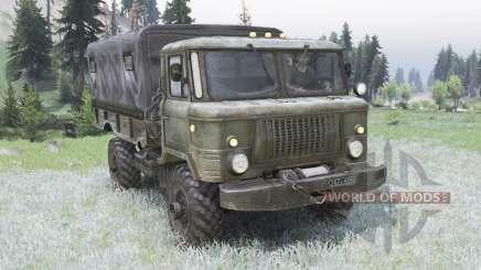 GAZ-66 vert grisâtre pour Spin Tires