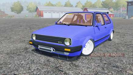 Volkswagen Golf GTI (Typ 19) 1984 stance pour Farming Simulator 2013