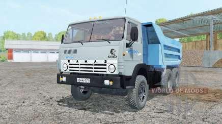 KamAZ-55111 gris-couleur bleu pour Farming Simulator 2015