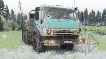 KamAZ-53504 in celadon für Spin Tires