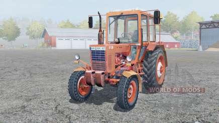 MTZ-80 Belarus ist mäßig rot für Farming Simulator 2013