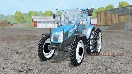 New Holland T4.55 pure cyan pour Farming Simulator 2015
