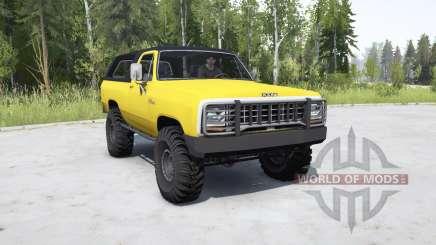 Dodge Ramcharger 1982 _ pour MudRunner