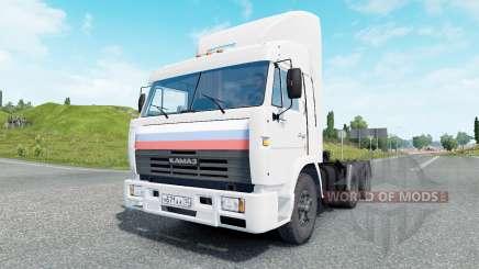 KamAZ-54115 couleur blanche pour Euro Truck Simulator 2