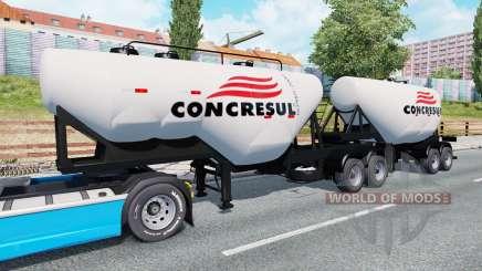 Doppel-Auflieger-Zement-LKW für Euro Truck Simulator 2