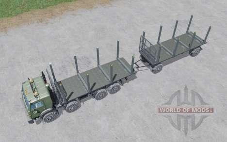 KamAZ-6350 bois pour Farming Simulator 2017