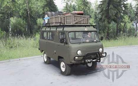 UAZ-452 gris foncé-couleur verte pour Spin Tires