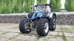 New Holland T7.290 rich electric blue für Farming Simulator 2017
