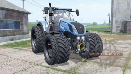 New Holland T7.315 narrow dual wheels für Farming Simulator 2017
