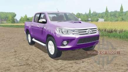 Toyota Hilux Double Cab 2015 pour Farming Simulator 2017