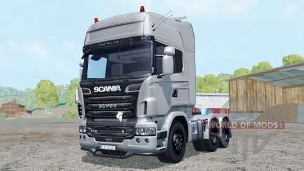 Scania R730 V8 Topline 6x6 pour Farming Simulator 2015