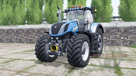 New Holland T7.290 rich electric blue pour Farming Simulator 2017