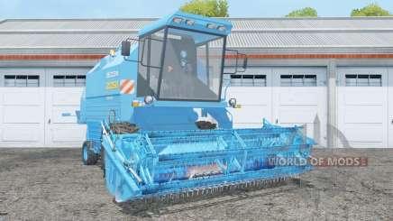 Bizon Rekord Z058 with header pour Farming Simulator 2015