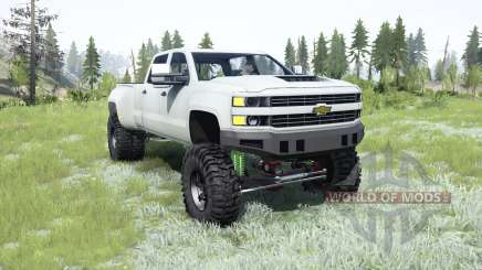 Chevrolet Silverado 3500 HD (GMTK2H) 2015 lifted pour MudRunner