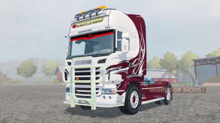 Scania R560 Topline antique ruby pour Farming Simulator 2013