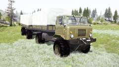GAZ-66 châssis articulé pour MudRunner