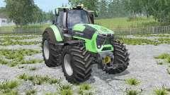 Deutz-Fahr 9340 TTV Agrotron with weight pour Farming Simulator 2015