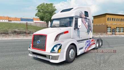 Volvo VNL 670 light gray für Euro Truck Simulator 2