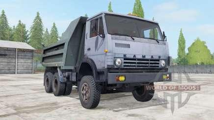 KamAZ-55111 gris-couleur bleu pour Farming Simulator 2017