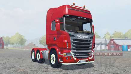 Scania R730 Topline strong red pour Farming Simulator 2013