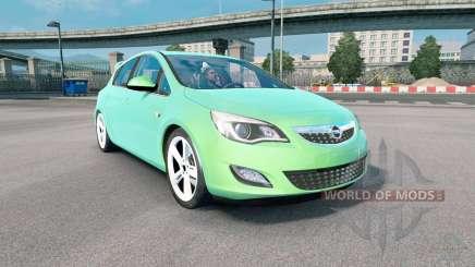 Opel Astra (J) 2010 medium spring green pour Euro Truck Simulator 2