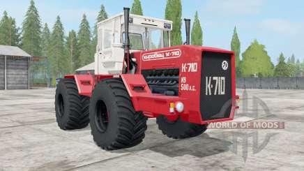 Kirovets K-710 couleur rouge vif pour Farming Simulator 2017