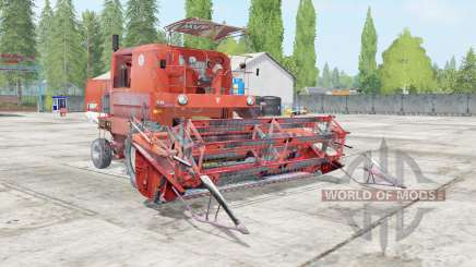 Bizon Super Z056 outrageous orange pour Farming Simulator 2017