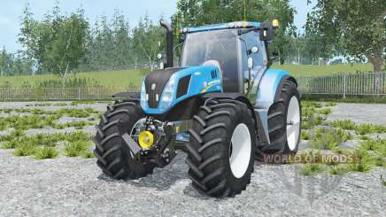 New Holland T7.240 spanish sky blue pour Farming Simulator 2015