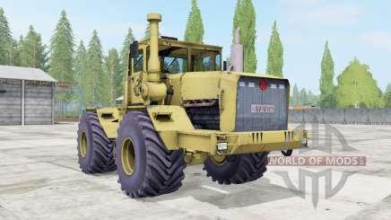Kirovets K-701 souple de couleur jaune pour Farming Simulator 2017