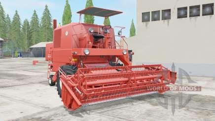 Bizon Super Z056 red orange pour Farming Simulator 2017