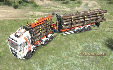 MAN TGS Girteka Logistics pour Spintires MudRunner