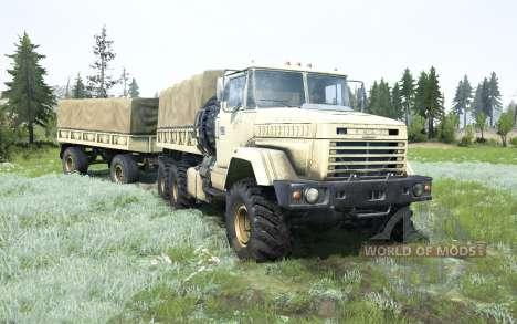 KrAZ-6322 souple de couleur jaune pour Spintires MudRunner