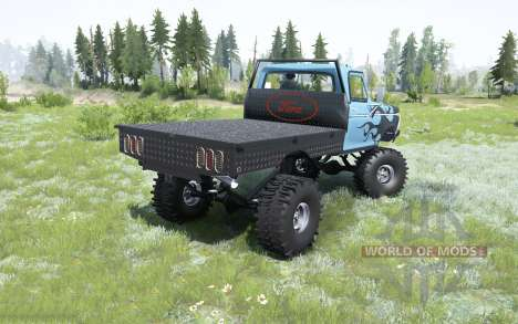 Ford F-250 flatbed 1979 pour Spintires MudRunner