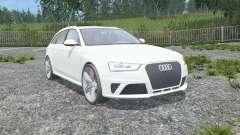 Audi RS 4 Avant (B8) 2012 gainsboro für Farming Simulator 2015
