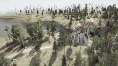 La coupe vers le bas sur les lignes électriques l'Ours dans les bois v1.2 pour MudRunner