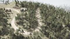 La coupe vers le bas sur les lignes électriques l'Ours dans les bois pour MudRunner
